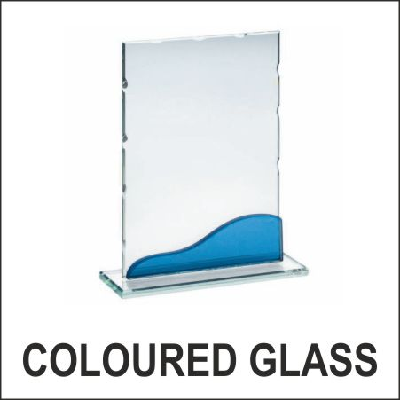 Glass with coloured effects