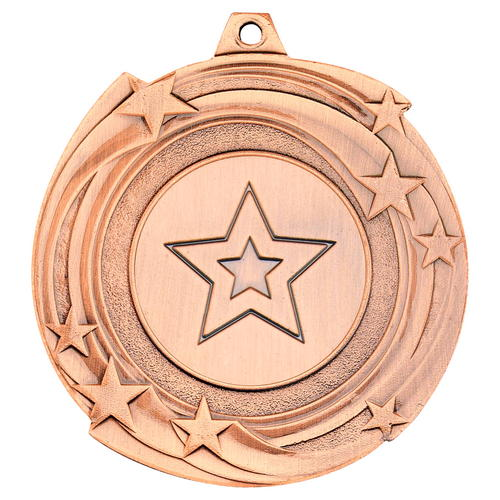 STAR CYCLONE MEDAL (1in CENTRE) - BRONZE 2in